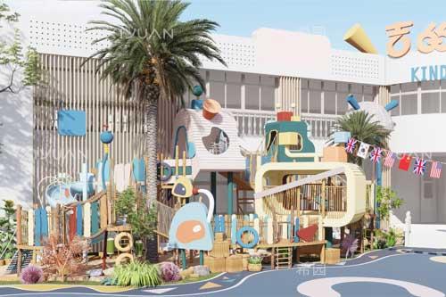 上海松江区吉的堡幼儿园室外设计